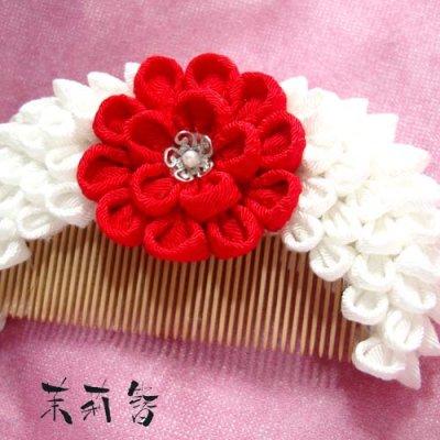 画像3: 花櫛 白