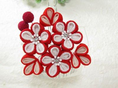 画像3: 花櫛 赤