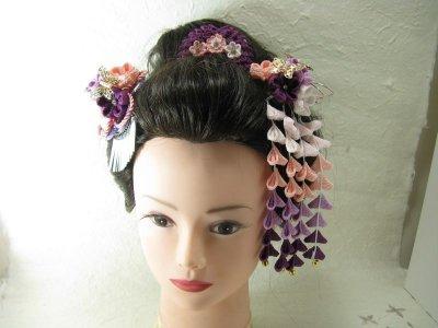 画像2: 花櫛 紫