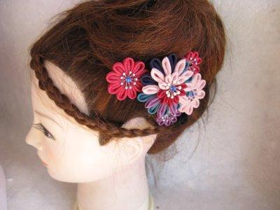 画像3: 大人の髪飾 つまみ細工 小紋 入学式 結婚式に